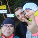 Rodzina na szczycie Borówkowej Góry