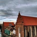 widok na kościół Dominikanów we Wrocławiu