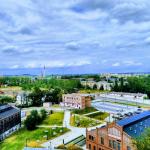 Widok na Katowice z wierzy widokowej w Muzeum Śląskie.