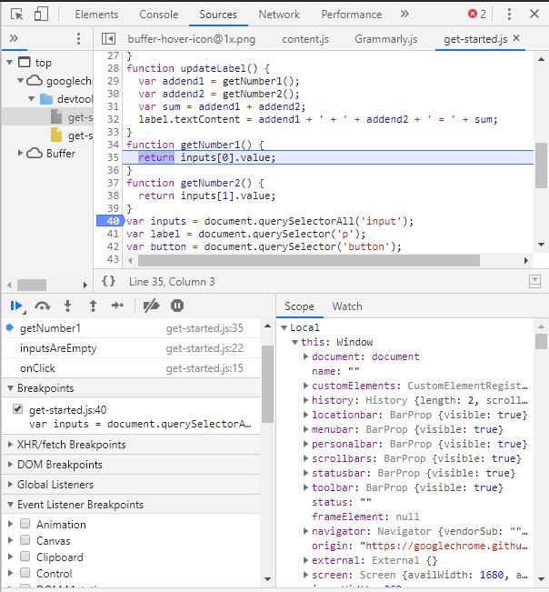 Print screen narzędzia dla developerów w Google Chrome.