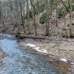 River in mountain in winter